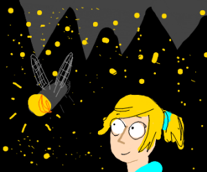 Link stares at a firefly