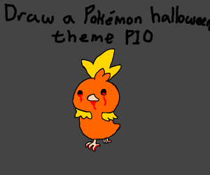Draw a pokemon halloween theme pio.