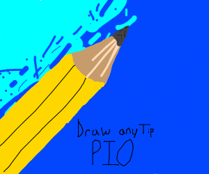 Draw any tip. Pass it on