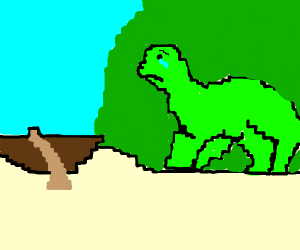 A dinosaur can't go on a boat