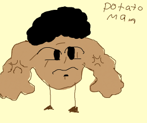 Potato With Muscle Arms + Hair