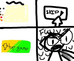 I skipped a top game :'(