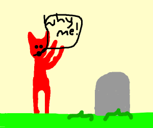 a demon guy mourns his beloved person
