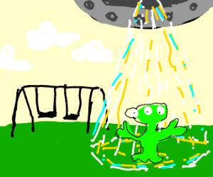 Ufo invades park