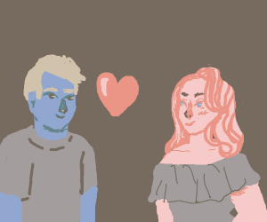 A Blue Dude Loves A Pink Girl