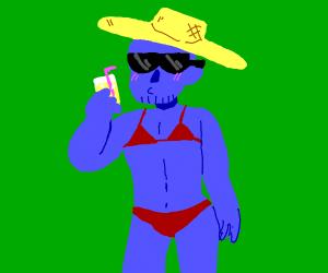 Thanos in a bikini