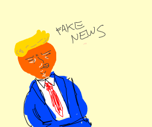 FAKE NEWS(it literally says that)