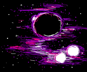 Cool space scene