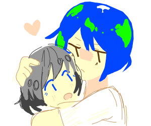 Earth Chan dosen't want to Divorce Moon Chan