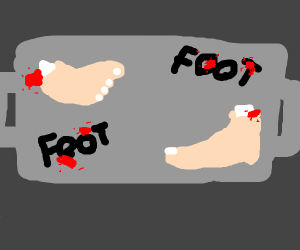 You have four feet at your disposal