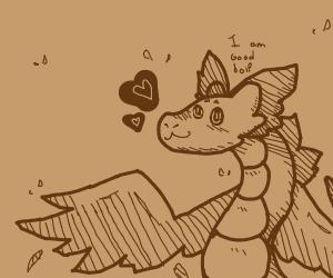 a dragon is a good boi