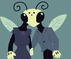 two bodied insect person