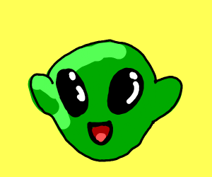 the cutest alien tries to charm you