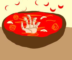Hand soup