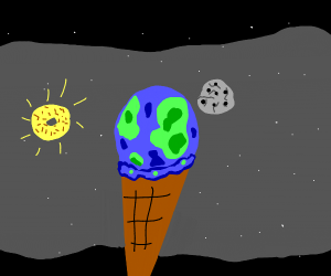 The world is an ice cream