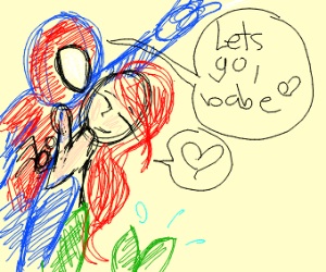 Spiderman and a mermaid fall in love..