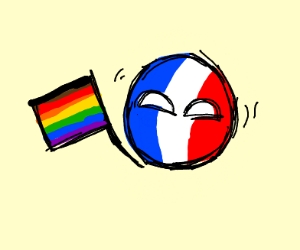 Gay french flag