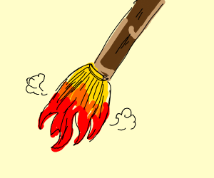 broom made of fire
