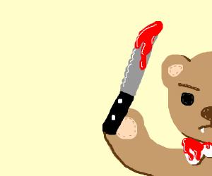 Teddy bear turns on you