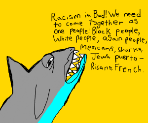 Shark talks about racism