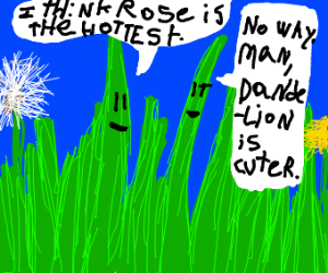 Grass talking about whos the hotest