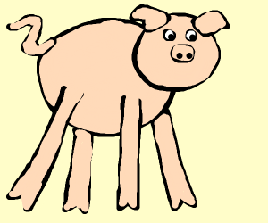 long legged pig