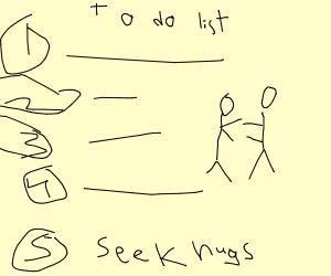 Step 5. Seek hugs