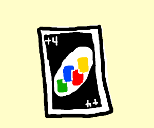 The +4 card from UNO