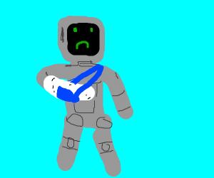 Injured robot