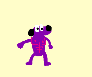 Angry dog with chest bumps