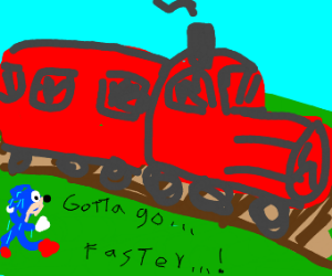 Sonic is not faster than a train. :(