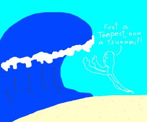 Ariel VS a tsunami