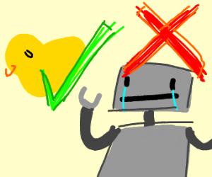 """Ducks are a-okay, but robots? Nah."""
