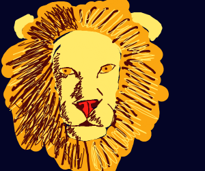 A really good lion