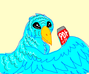 Bird offering you some coke