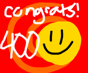 Congrats on 400 Emotes!