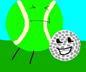 Golfball and Tennis Ball from BFDI