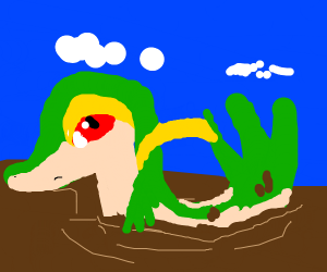Snivy stuck in mud