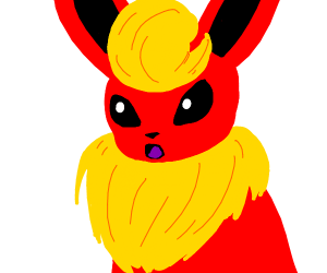 Surprised Flareon