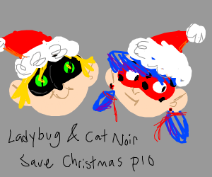 ladybug and cat noir save x-mas p.i.o
