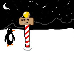 Flag on the North Pole