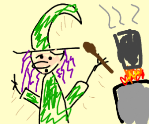 a cooking witch