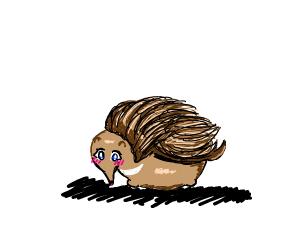 An anime porcupine