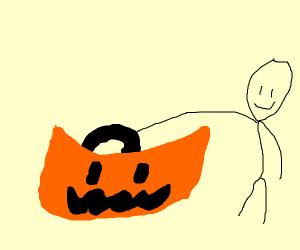 A bag of halloween