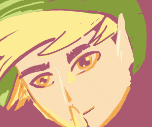 Link gesturing you to be quiet