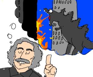 Einstein dreaming of Godzilla