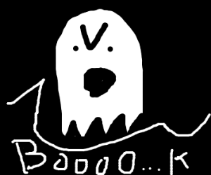 Ghost pretends to like book