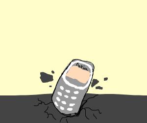 The Nokia phone breaks the ground