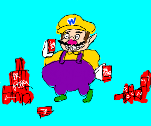 wario addicted to dr. pepper