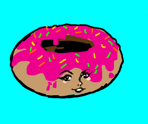 donut with a face